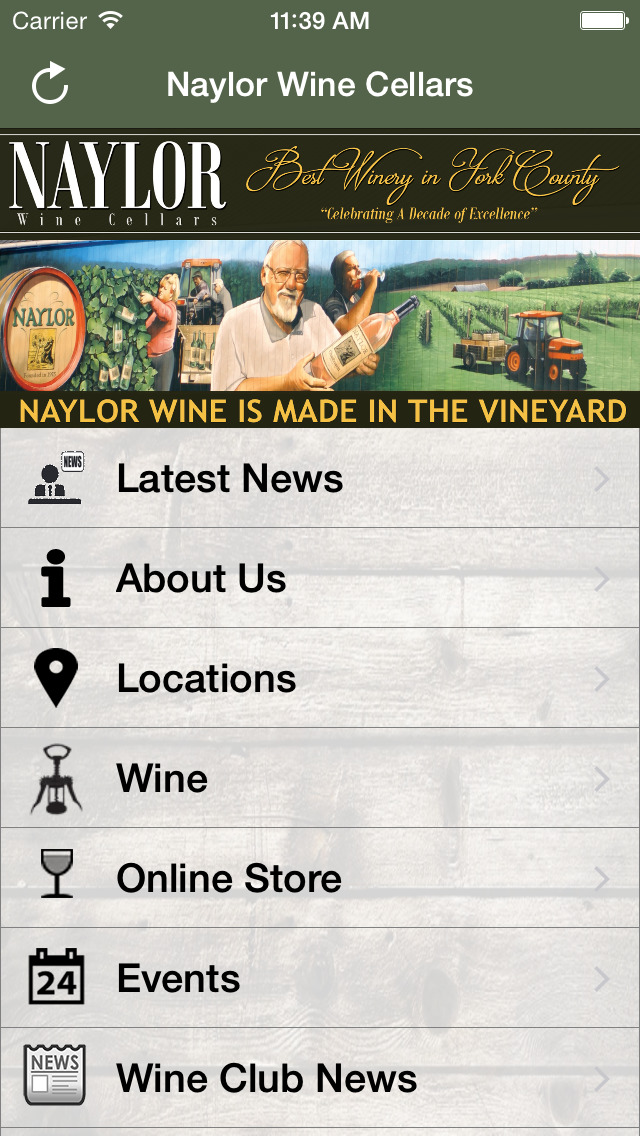 Naylor Wine Cellars screenshot 2