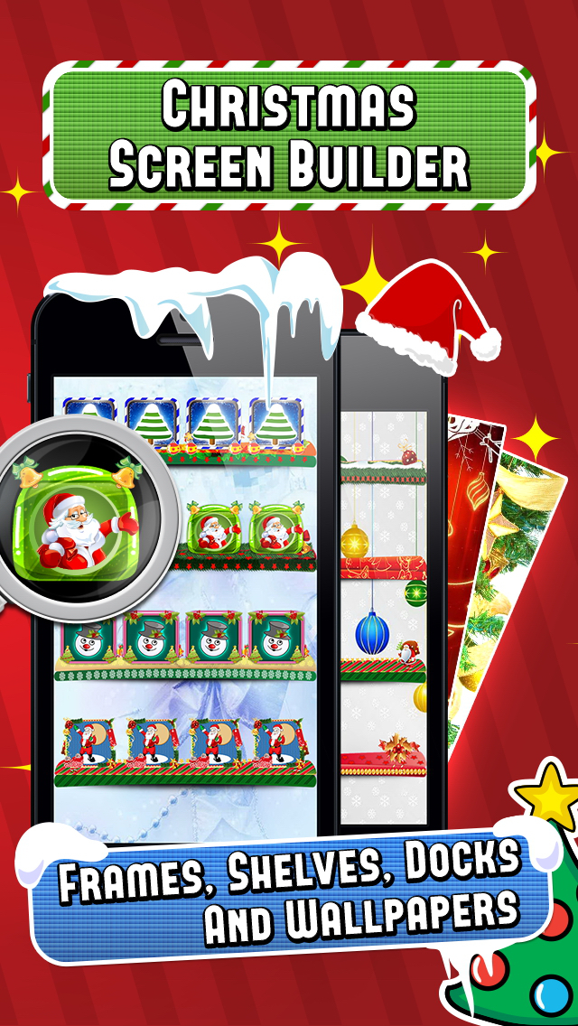 Christmas Screen Builder - Icon Skins Maker screenshot 1