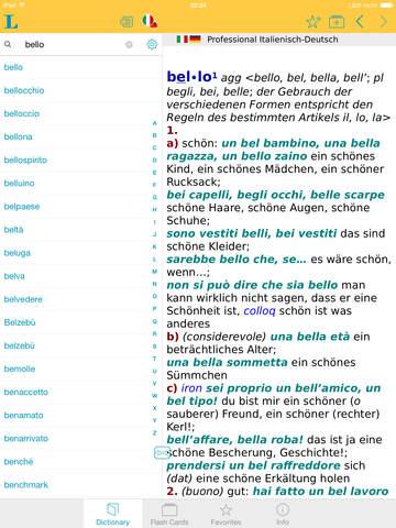 German Italian XL Dictionary screenshot 10