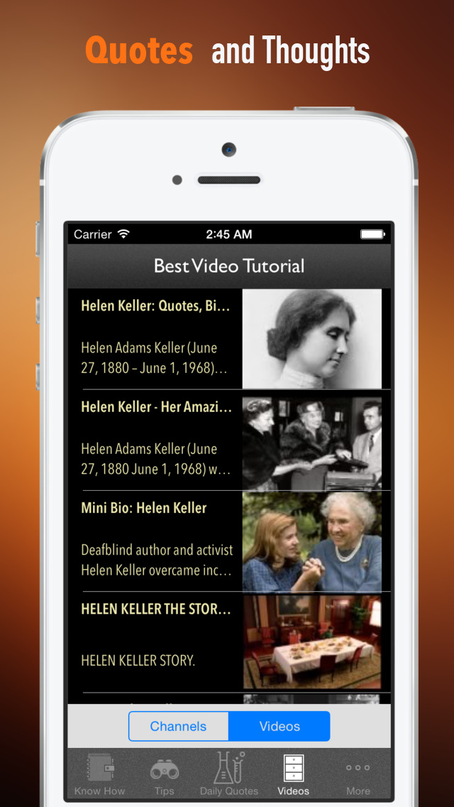 Helen Keller Biography and Quotes: Life with Documentary screenshot 3