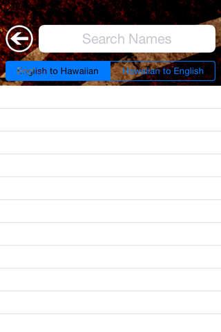 Hawaii Names - náhled