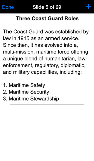 USCG E-PME Study Guide screenshot 2
