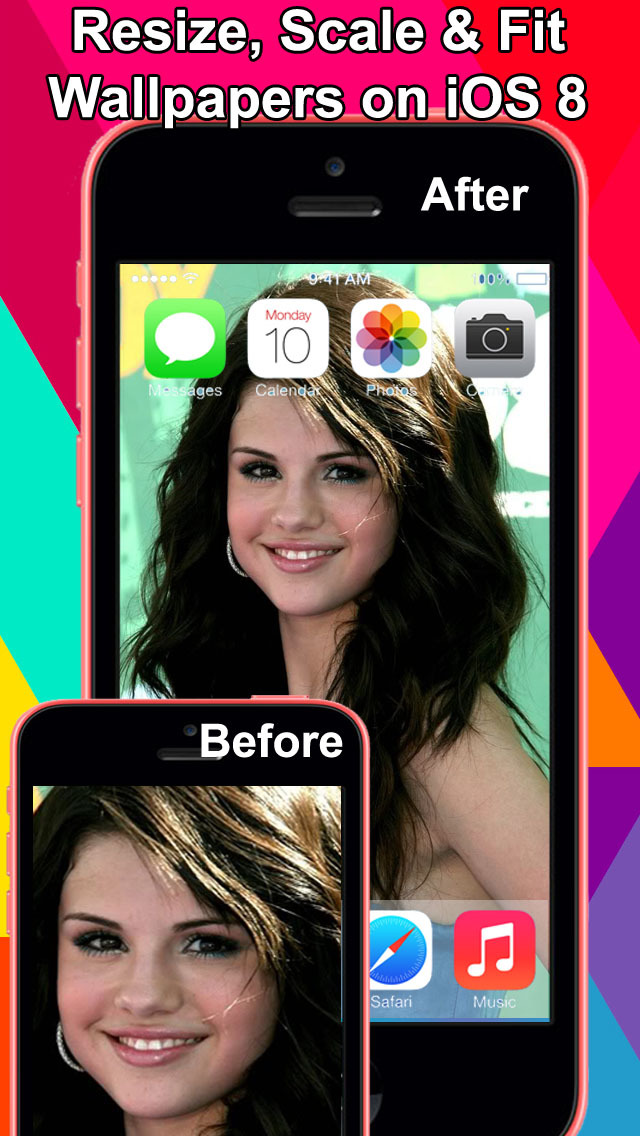 Wallpaper Fix for iOS8 - Rotate, scale, zoom & Fit Photos screenshot 1
