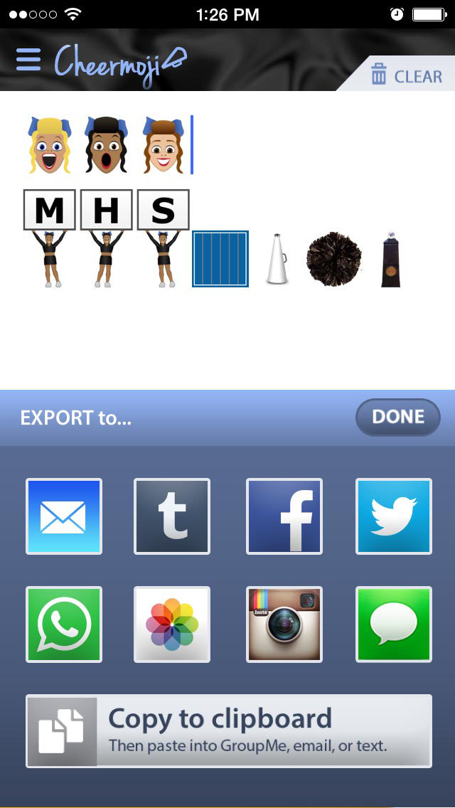 Cheermoji - cheerleading emojis for cheerleaders to build tiny cheer stunts screenshot 5