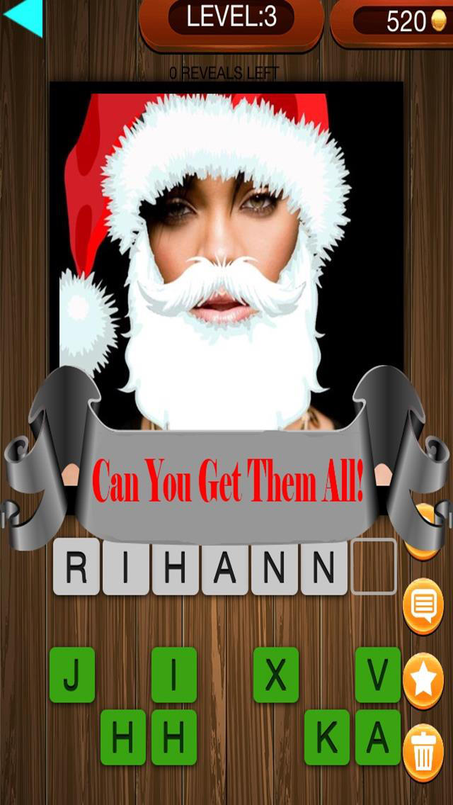 Christmas Factor Celebrity Santa Guess Who Pics Trivia Quiz - The Free App screenshot 4