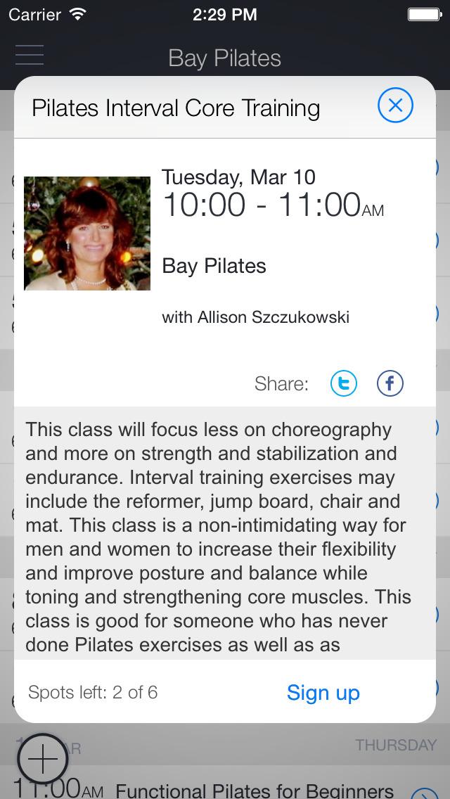 Bay Pilates and Wellness screenshot 2
