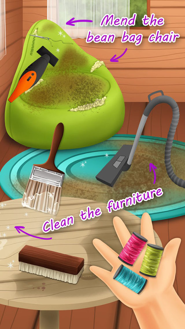 Sweet Baby Girl Cleanup 3 - Messy House screenshot 3