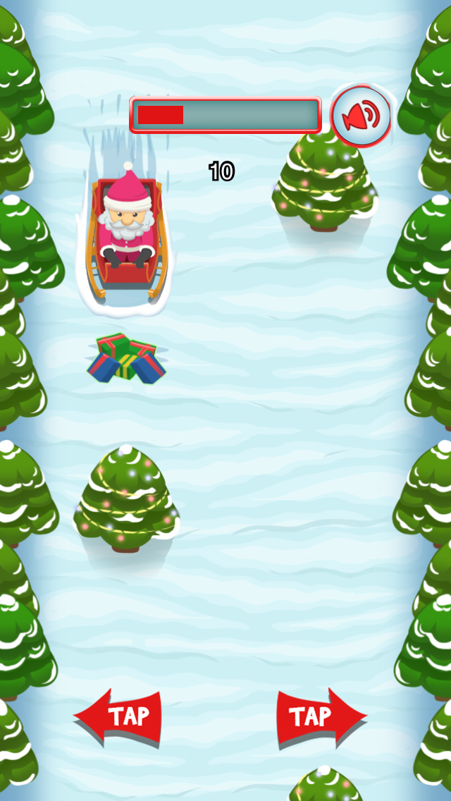 `A Santa's Sleigh Run Ride: Frozen Christmas screenshot 2
