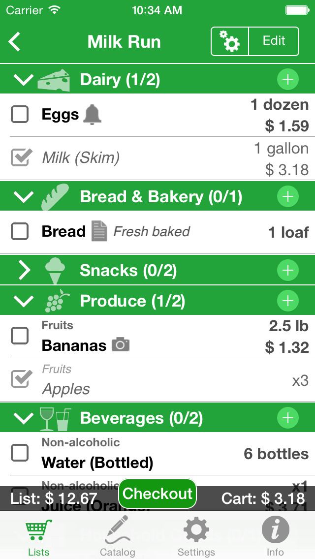 Shopping Pro (Grocery List) screenshot 1