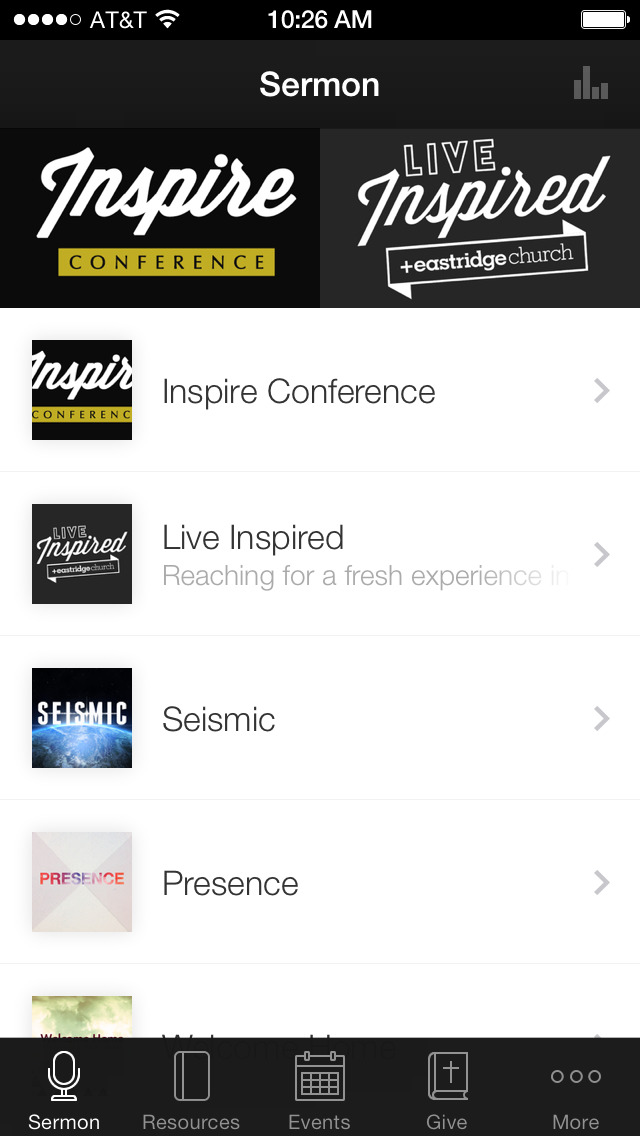 Eastridge Church Mobile App screenshot 1