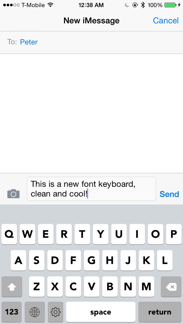 Keyboard of Avenir Font: Artistic Style Keys for iOS 8 screenshot 1