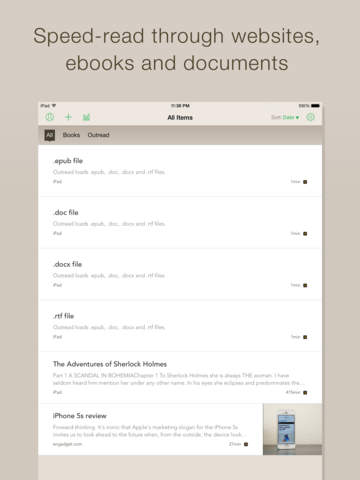 Outread: Speed Reading Trainer screenshot 8