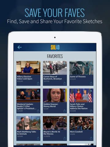 SNL: The Official Saturday Night Live App from NBC screenshot 10