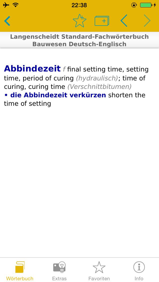 Bauwesen Englisch<->Deutsch Fachwörterbuch Standard screenshot 3