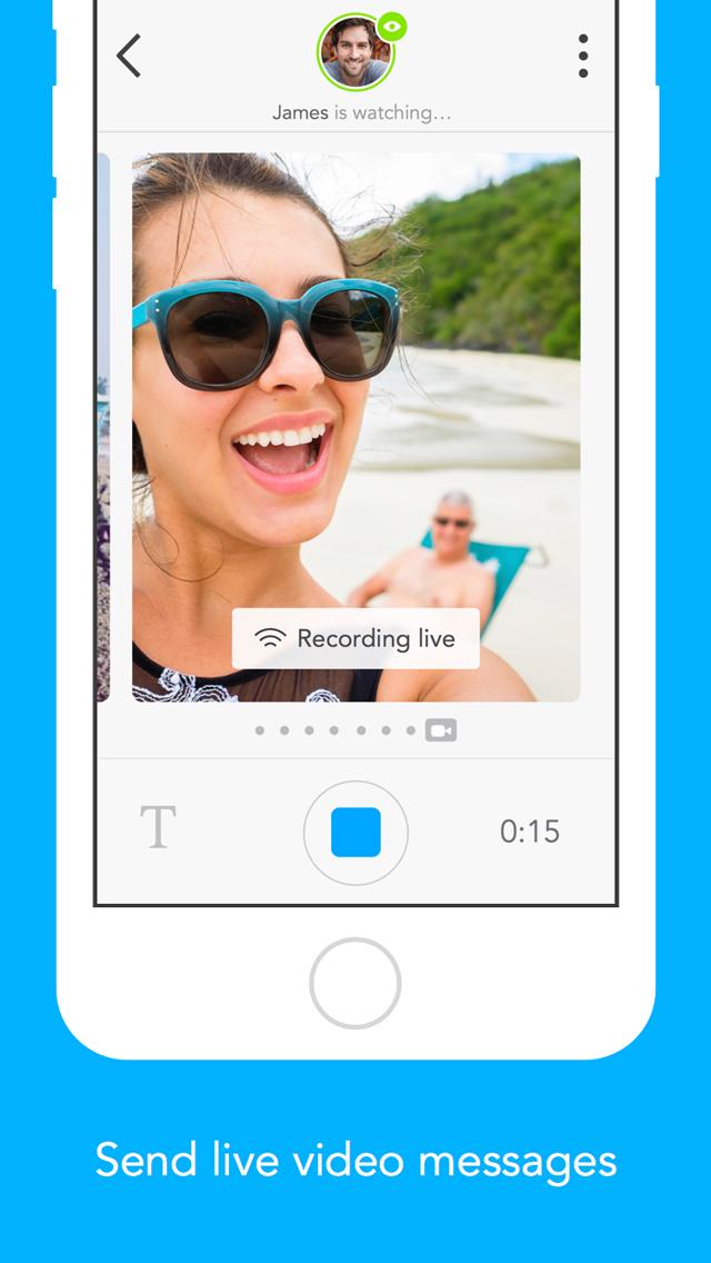Glide - Live Video Messenger screenshot 1