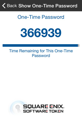 SQUARE ENIX Software Token screenshot 1