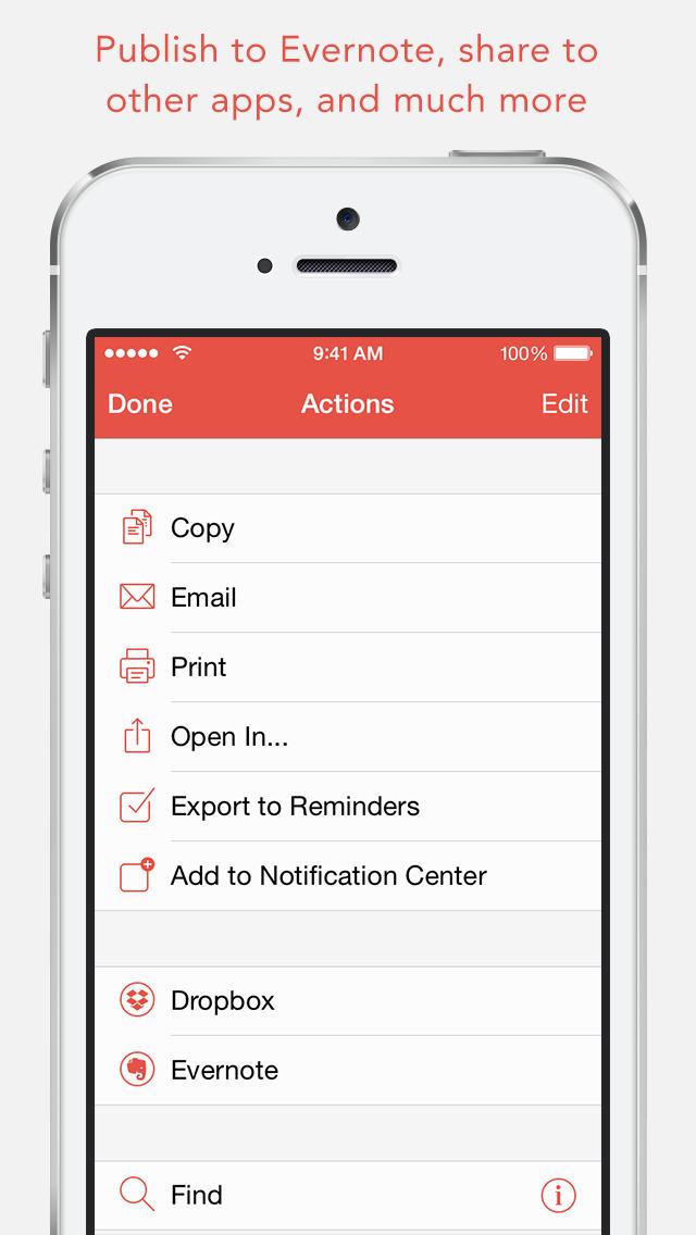 1Writer - Markdown Text Editor screenshot 5