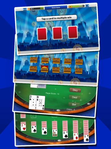 `Lucky Gold Coin Jackpot Casino 777 Slots - Slot Machine with Blackjack, Solitaire, Bonus Prizewheel screenshot 7