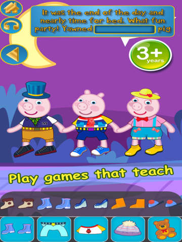 My Interactive Happy Little Pig Story Book Dress Up Time Game - Advert Free App screenshot 9