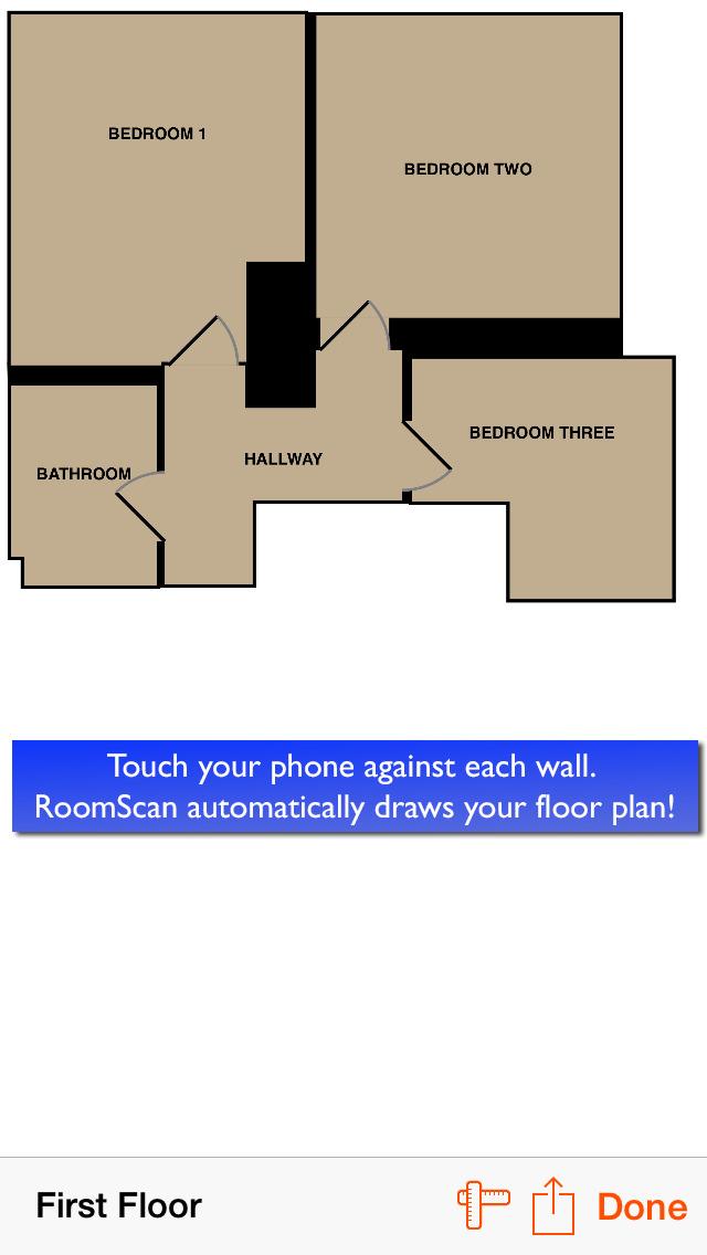 RoomScan Pro – floor plan app screenshot 2
