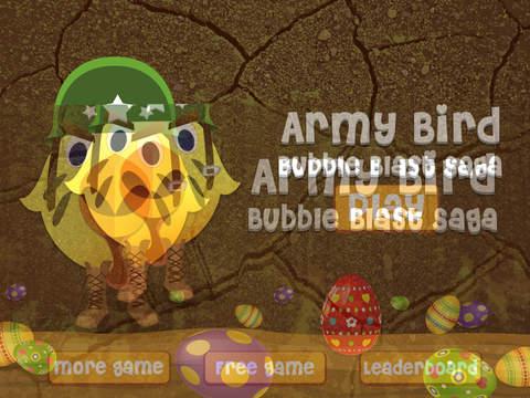 Army Bird Bubble Blast Saga - best brain twister matching game screenshot 8