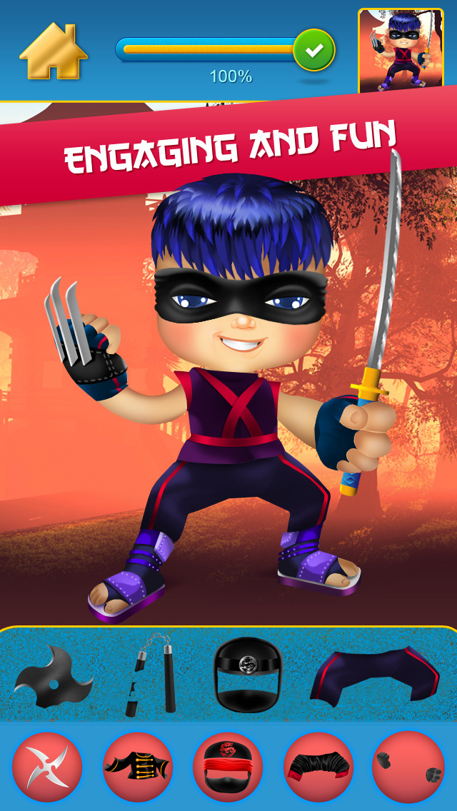 My Mega Power Ninja Hero Design & Copy Crazy Game screenshot 5
