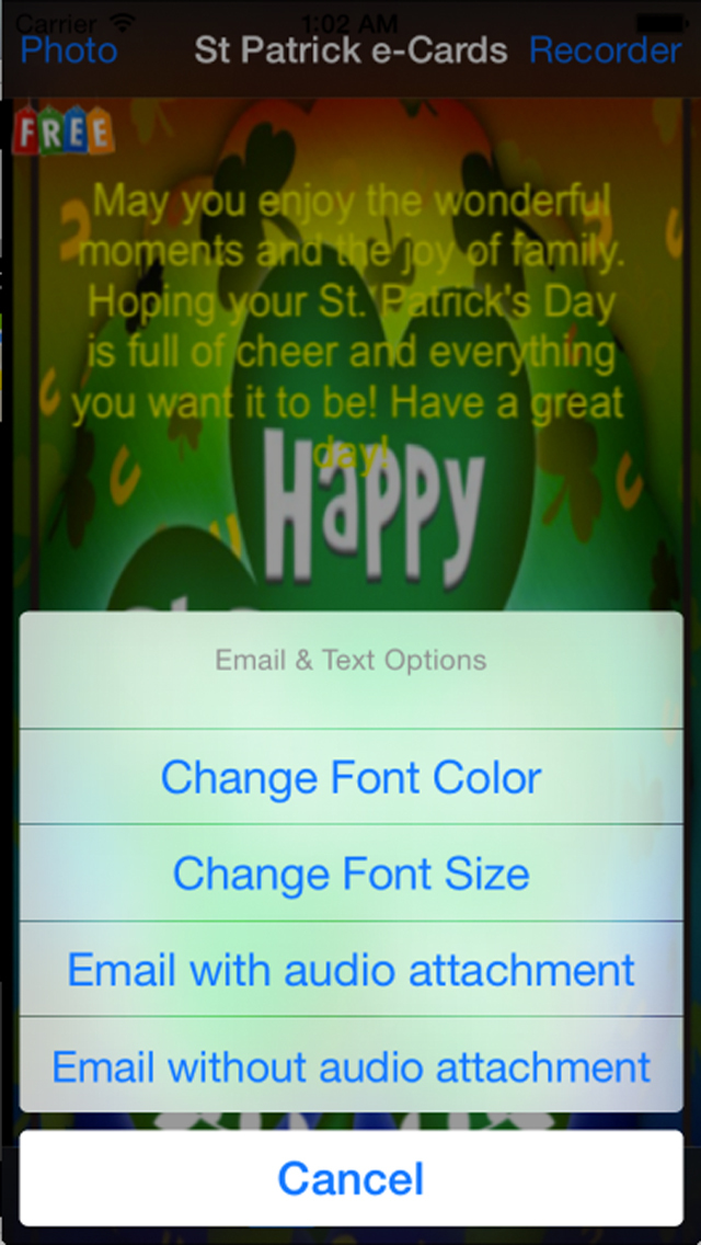 Saint Patrick's Day eCards screenshot 4