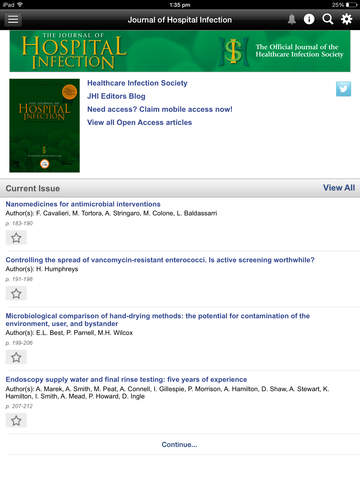 The Journal of Hospital Infection screenshot 8