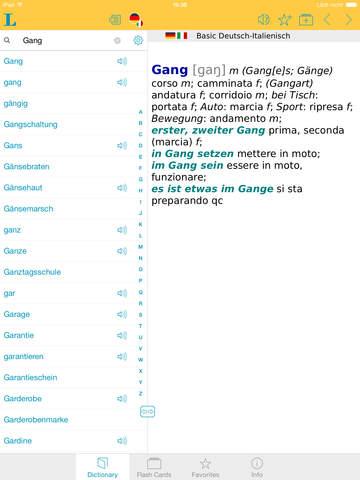 Italian <-> German Talking Dictionary Basic screenshot 10