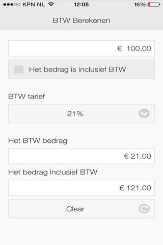 Btw Berekenen App for FREE - náhled