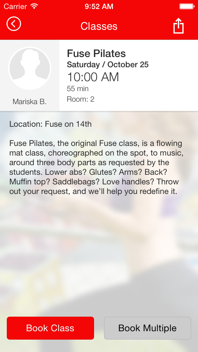 Fuse Pilates screenshot #4