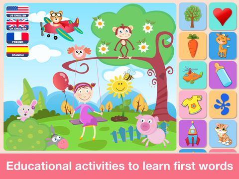 Preschool First Words Baby Toddlers Learning Games screenshot 7