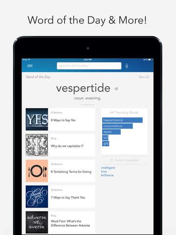Dictionary.com Pro for iPad screenshot 2