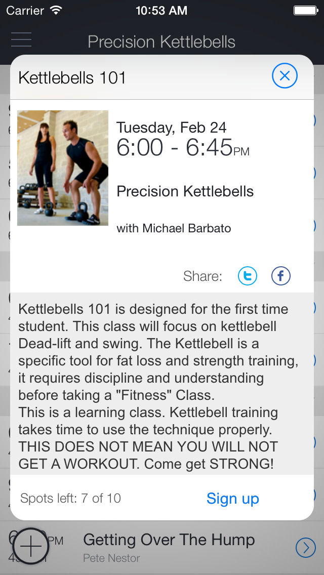 Precision Kettlebells Bootcamp screenshot 2