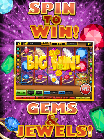 Ace Gem & Jewel Slots Jackpot Machine Games - Lucky Spin To Win Prize Wheel Casino Game Free screenshot 7