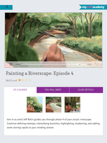 Paint a Riverscape in Acrylics screenshot 9