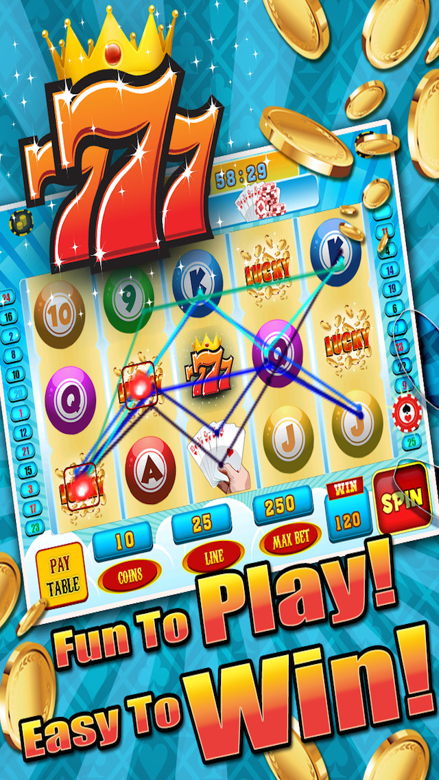 Aces Bingo Slots Casino - Crazy Fun Vegas-Style Super Bingo Slot Machine Games HD screenshot 1