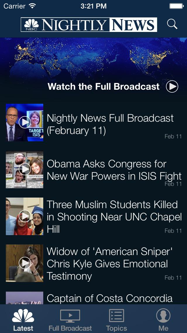 NBC Nightly News screenshot 1