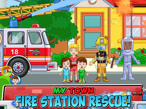 My Town : Fire station Rescue screenshot 6