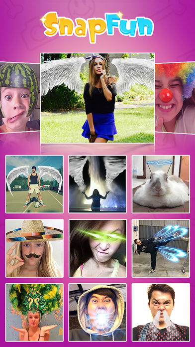 SnapFun Pro - taking cool and funny photos Screenshot
