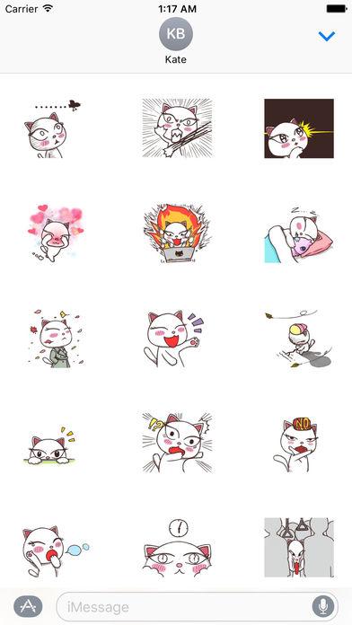 Graceful Cat Sticker screenshot 2