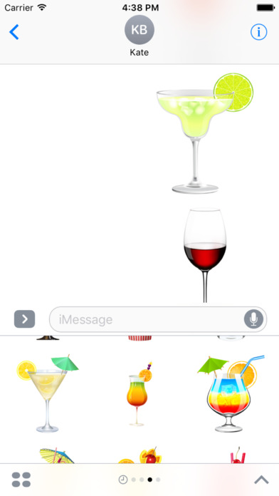 Beautiful Cocktails Stickers for iMessage screenshot 2