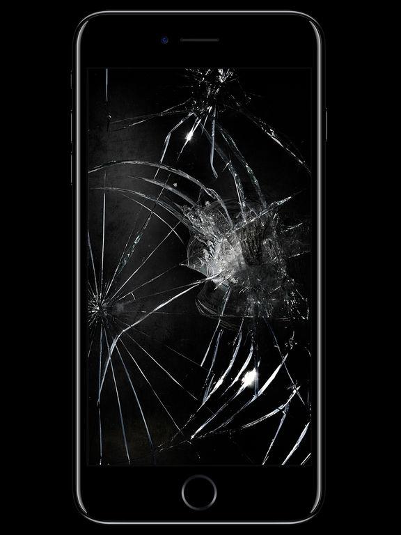 очень ярко, картинки треснутого экрана на телефон лифтера дает