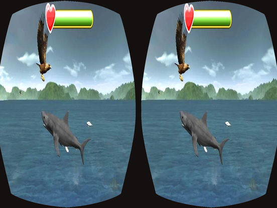 VR Wild Eagle Strike : Real Ocean Fish Attack screenshot 5