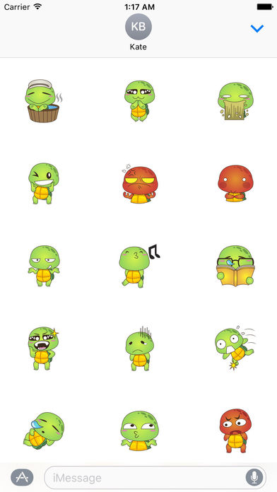 Lovely Turtle Stickers screenshot 2