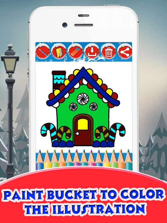 Christmas House Coloring Book screenshot 7