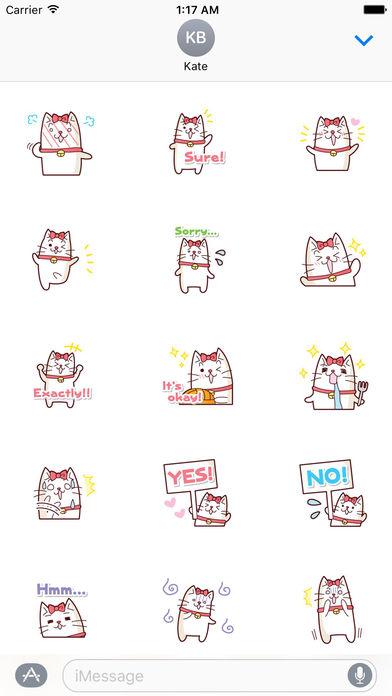 A White Cat Stickers screenshot 2