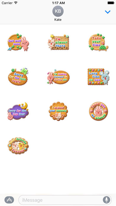 So Sweet Animal Cookies Stickers screenshot 3