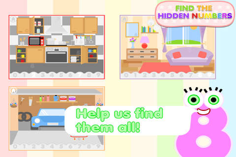 Find The Hidden Numbers - Learning Game For Kids - náhled