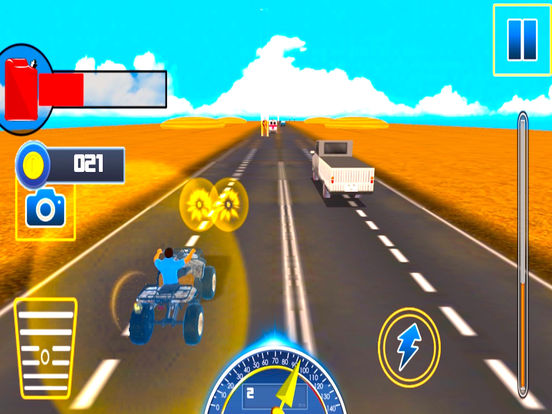 Traffic Quad Bike Rider : End-Less Road Rac-ing 3D screenshot 6